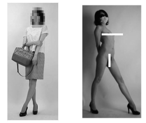 私服と全裸の比較写真